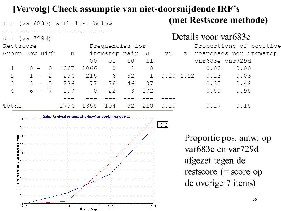 [Vervolg] Check assumptie van niet-doorsnijdende IRF's